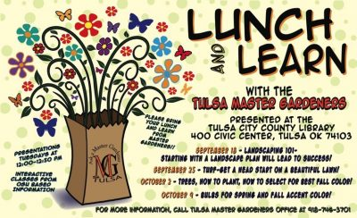 Tulsa Master Gardeners Lunch & Learn: Turf @ Tulsa (Central Library)