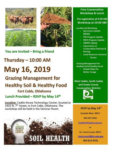 Grazing Management for Healthy Soil and Healthy Food @ Fort Cobb (Caddo Kiowa Technology Center)