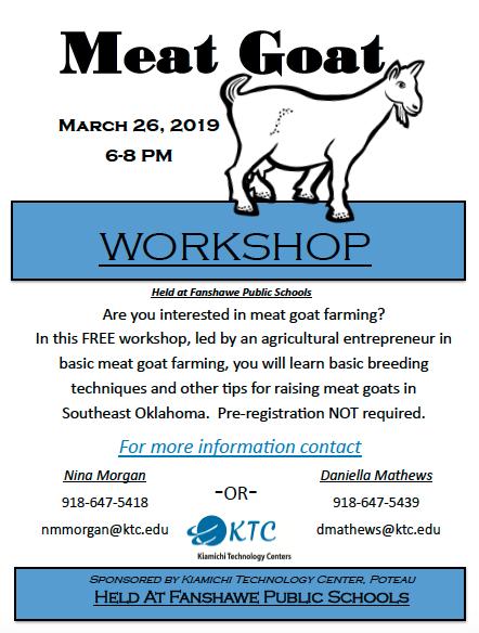Meat Goat Workshop