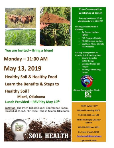 Workshop: Healthy Soils & Healthy Food @ Miami (Inter-Tribal Council Conference Room)