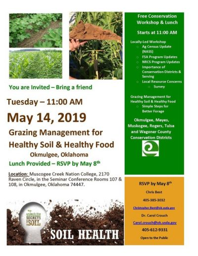 Grazing Management for Healthy Soil and Healthy Food @ Okmulgee (College of the Muscogee Creek Nation)