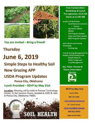 POSTPONED: Workshop: Simple Steps to Healthy Soil @ Ponca City (Pioneer Technology Center)