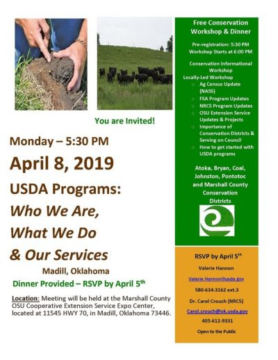 USDA Programs: Who We Are, What We Do, & Our Services @ Madill (Marshall County OSU Cooperative Extension Service Expo Center)