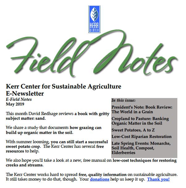 Field Notes – May 2019