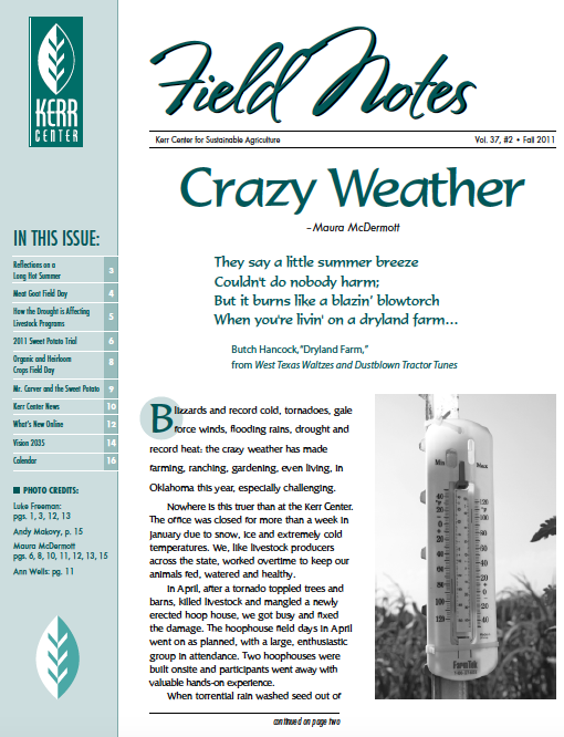 Field Notes – Fall 2011