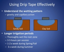 Using Drip Tape Effectively