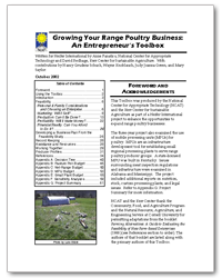 Growing Your Range Poultry Business: An Entrepreneur's Toolbox