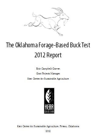 2012 Oklahoma Forage-Based Buck Test Report