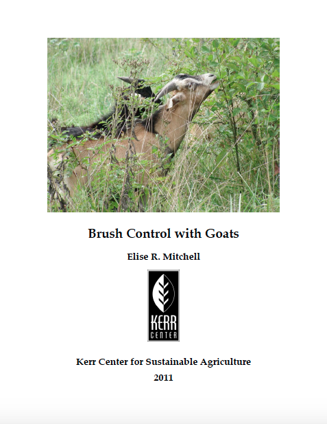Brush Control with Goats