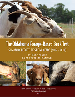 Oklahoma Forage-Based Buck Test Summary Report: First Five Years (2007-2011)
