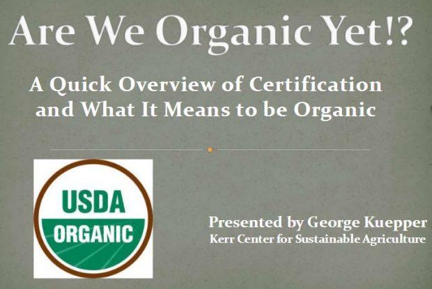 Are We Organic Yet?!