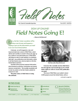 Field Notes: Fall 2014
