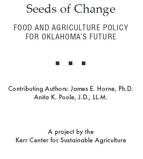 Seeds of Change: Food and Agriculture Policy for Oklahoma's Future