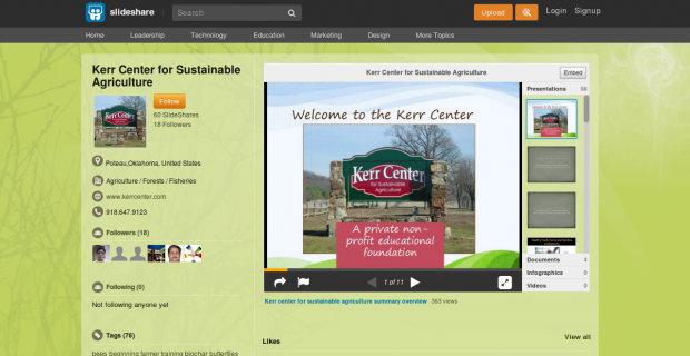 Check out Kerr Center Slideshows and Presentations