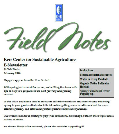 Field Notes – February 2016