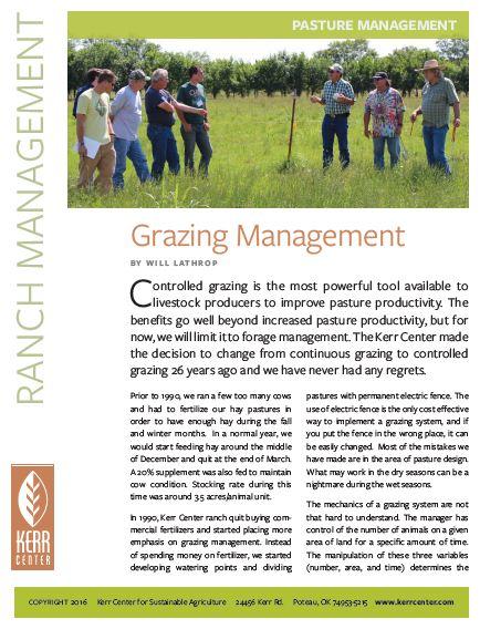Fact Sheet: Grazing Management