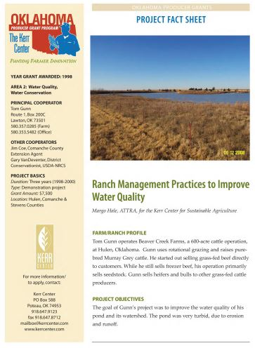 Ranch Management Practices to Improve Water Quality