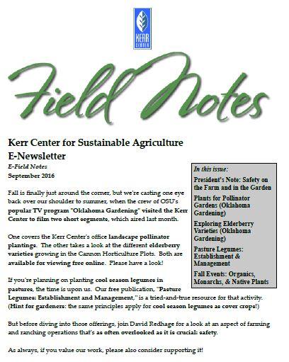 Field Notes – September 2016