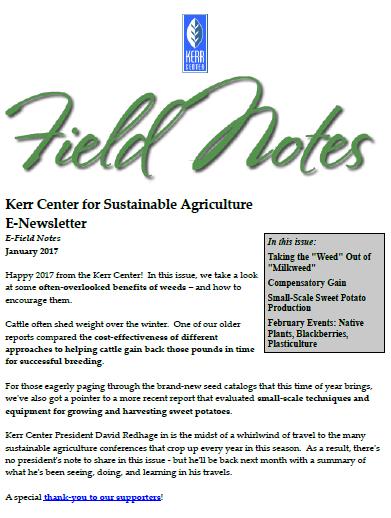 Field Notes – January 2017