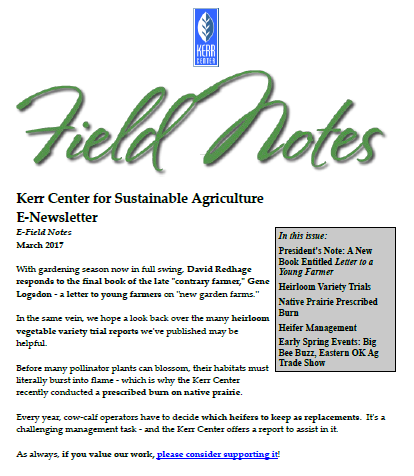 Field Notes – March 2017