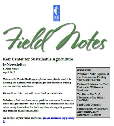 Field Notes – April 2017