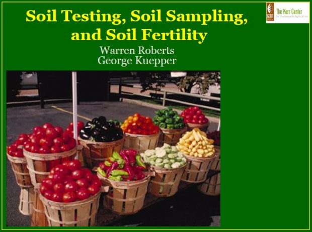 Soil Testing, Soil Sampling, and Soil Fertility