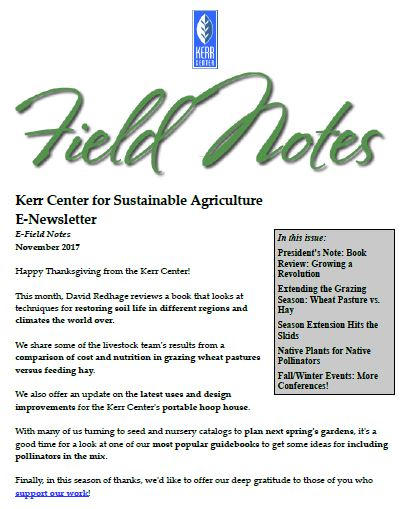 Field Notes – November 2017