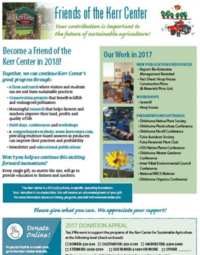 Friends of the Kerr Center - year end letter