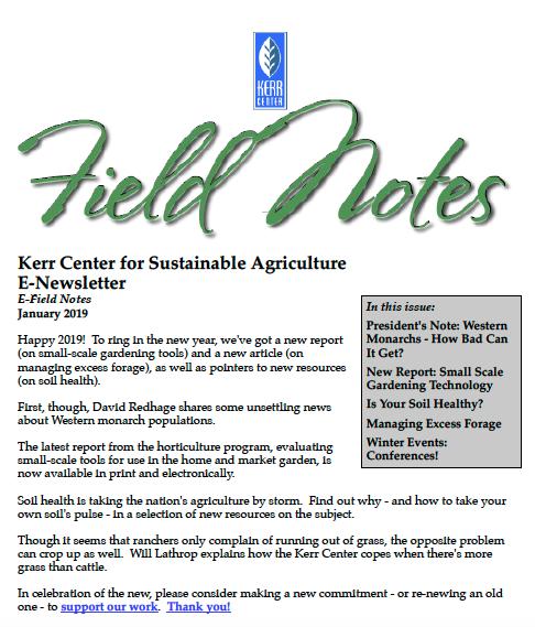 Field Notes – January 2019