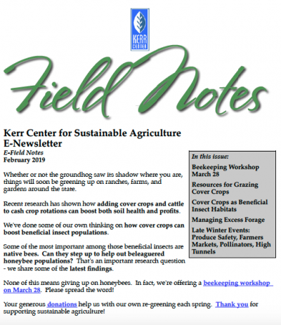 Field Notes February 2019