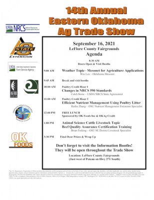 Eastern Oklahoma Ag Trade Show @ Poteau (LeFlore County Fairgrounds)