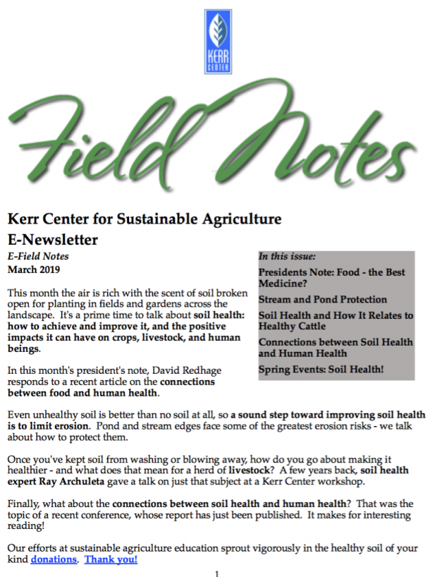 Field Notes – March 2019