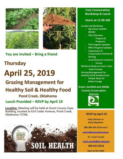 Grazing Management for Healthy Soil and Healthy Food @ Pond Creek (Grant County Expo Building)