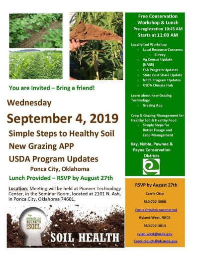 Workshop: Simple Steps to Healthy Soil @ Ponca City (Pioneer Technology Center)