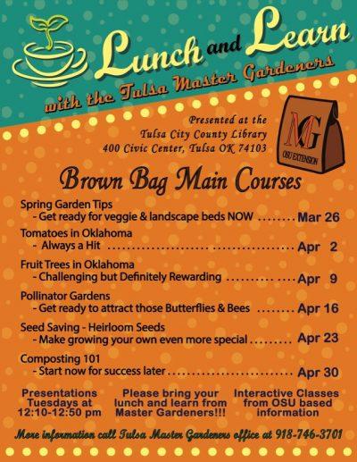 Lunch & Learn: Seed Saving - Heirloom Seeds @ Tulsa (Tulsa City County Library)