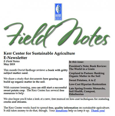Field Notes May 2019