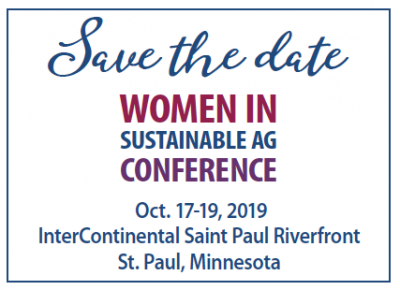 Conference: Women in Sustainable Ag @ St. Paul, MN (InterContinental St. Paul Riverfront)
