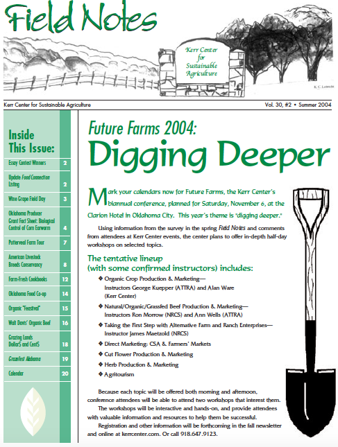 Field Notes – Summer 2004