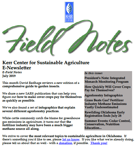 Field Notes – July 2019