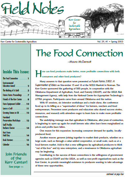 Field Notes – Spring 2003
