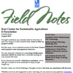 Field Notes August 2019