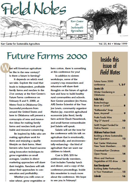 Field Notes – Winter 1999