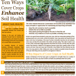 new fact sheets ecosystem services cover crops