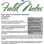 field notes september 2019