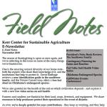 field notes november 2019