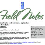 field notes december 2019