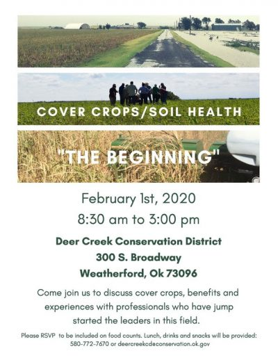 Cover Crops / Soil Health: The Beginning @ Weatherford (Deer Creek Conservation District)