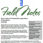 field notes january 2020