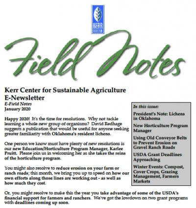 field notes january 2020