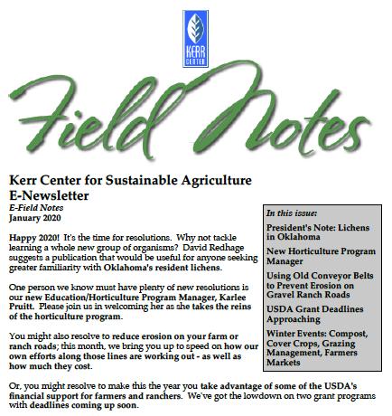 Field Notes – January 2020